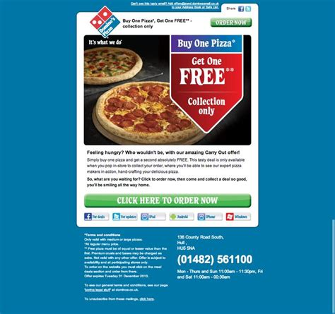 domino pizza email 87 best images about email newsletters on pinterest