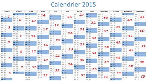 Calendrier Par Semaine Calendrier 2015 Avec Semaines
