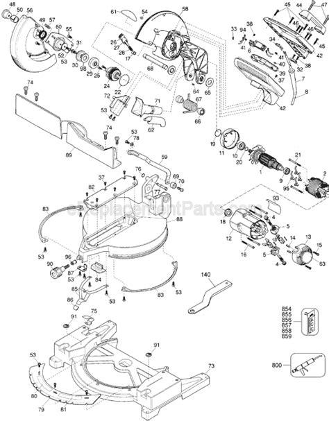Dewalt Dw704 Parts List And Diagram Type 5
