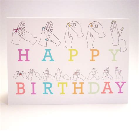 Sign Language Birthday Card