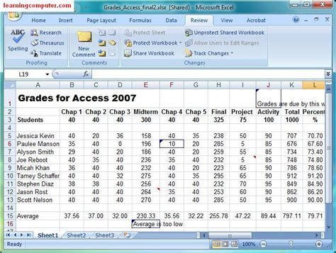 tutorial html exle microsoft tutorial excel review tab