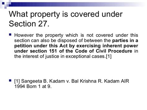 section 151 of code of civil procedure division of property on divorce in india