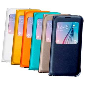 samsung s view flip cover for samsung galaxy s6 (leather)