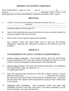 construction management agreement template property management contract