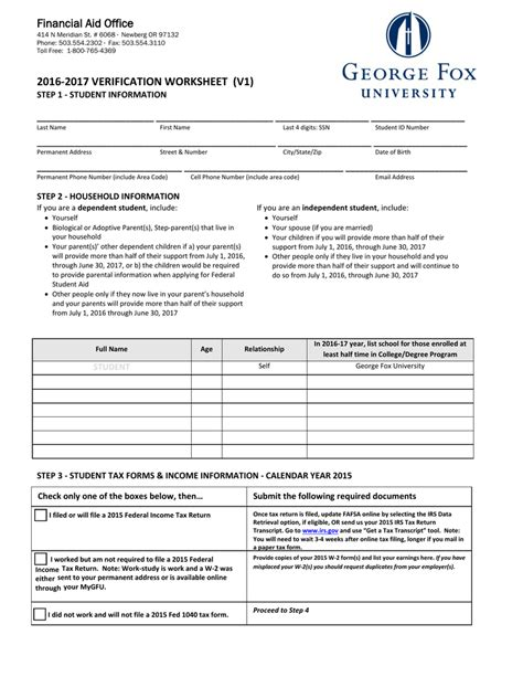 Fafsa Office by Fafsa Verification Worksheet Worksheets Reviewrevitol