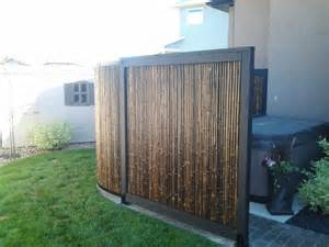 Bamboo Screens For Patios by Tub Privacy Screen Made Of Bamboo Outdoor Flowers