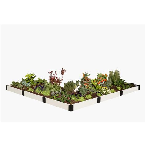 frame it all two inch series 12 ft x 12 ft x 22 in composite split waterfall raised garden