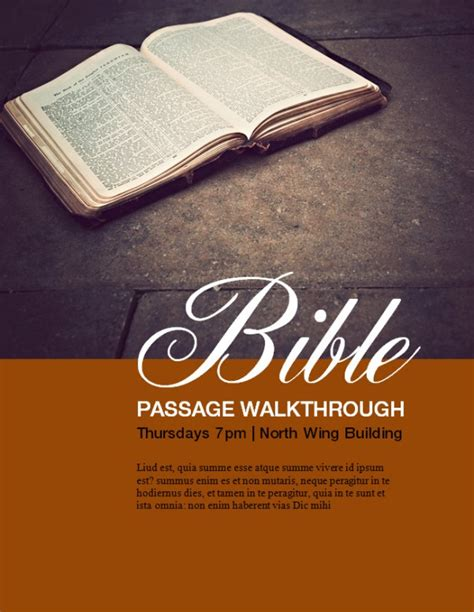 bible study flyer template free church flyers christian flyers flyer templates sharefaith page 3