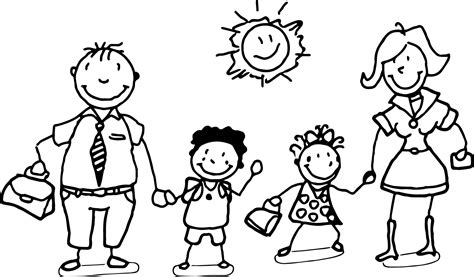 coloring page of family members coloring pages of families family coloring pages best