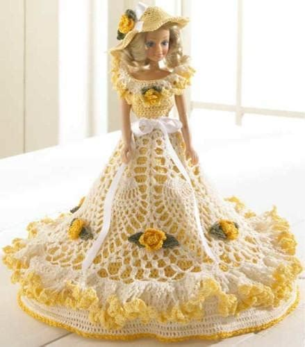 pattern crochet doll dress maggie s crochet 183 gabriella fashion doll dress crochet