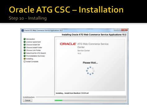 tutorial oracle atg atg commerce service center csc