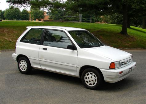 rare 1992 ford festiva gl sport low miles good condition no reserve auction for sale in silver