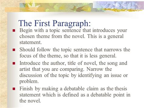 essay theme music the five paragraph essay format ppt video online download