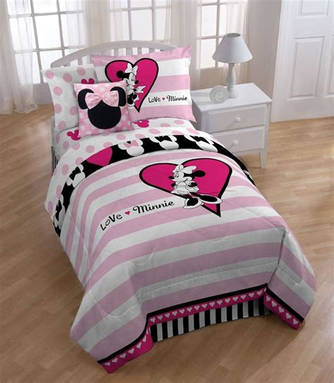 Disney Minnie Mouse Full Comforter Set Ebay Minnie Mouse Bedding Set