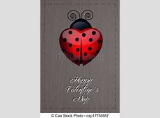 Happy valentines day. Ladybug-shaped heart for valentines day. Free Clipart Of Valentine's Day
