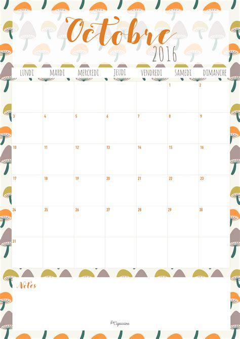 Calendrier Octobre 2016 Calendrier Octobre 2016 La Capuciine