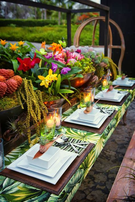 tropical decoration how to tropical table decor tropical wedding decor