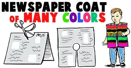 newspaper theme preschool coat of many colors make a coat vest out of newspaper and