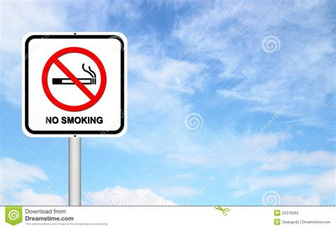 no smoking sign blue stock photography no smoking sign with blue sky image