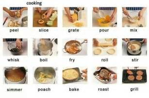 cooking verbs food meal kitchen