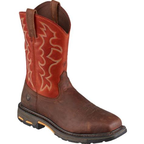 ariat steel toe boots ariat s workhog steel toe work boots academy