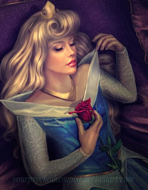 painting of disney princess by yourpsychotherapist on deviantart