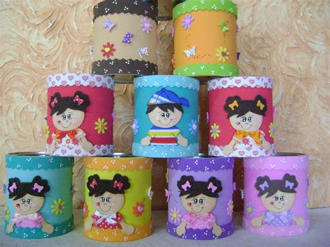 latas decoradas en foami latas decoradas con foami o goma eva dale detalles