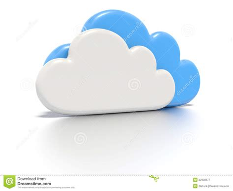 3d cloud cloud computing concept stock illustration image of