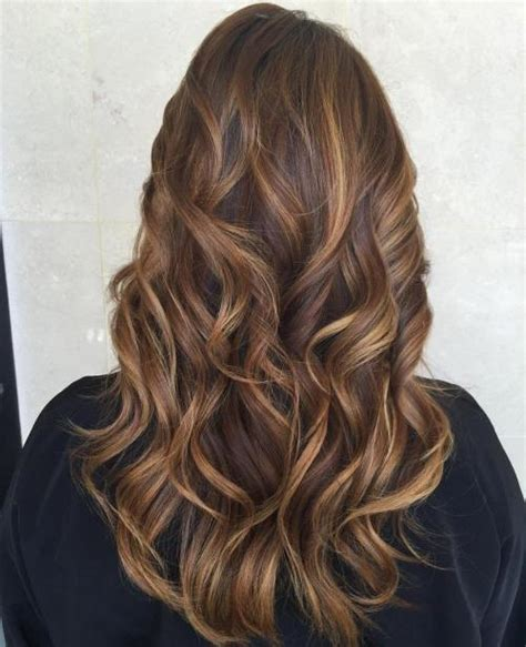 what color low lights look good with white grey hair 60 looks with caramel highlights on brown and dark brown hair