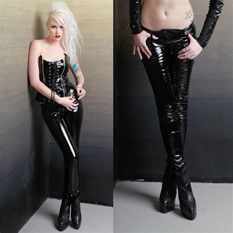 look legging in vinyl clothing women lip service girls vinyl sucker pants lackhose lackr 246 hre