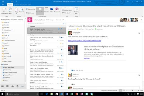 Office 365 Mail Groups What S New In Microsoft Outlook 2016