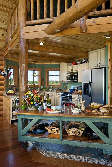 log home kitchen islands colorful log home kitchen i really like the portable