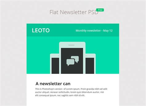 6 free email newsletter psd templates web graphic