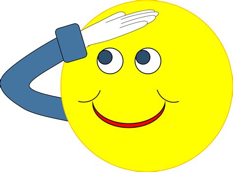 Saluting Clipart clipart smiley salute