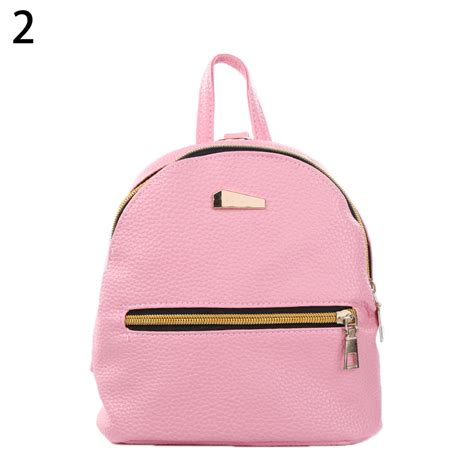 Fashion Mini Single Bag 7059 fashion faux leather mini backpack travel handbag school rucksack bag ebay