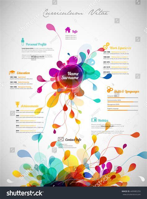 colorful resume templates colorful resume template word templates