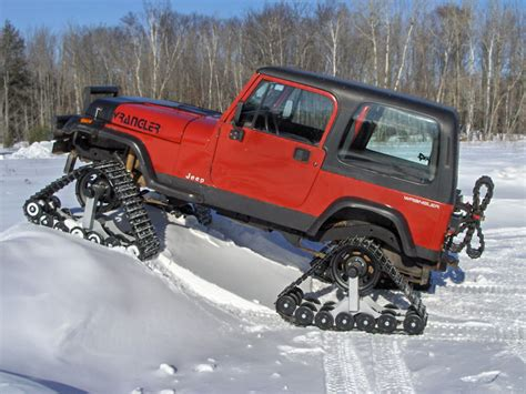 jeep wrangler snow tires american track truck jeep wrangler snow cat trail groomer