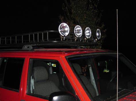 just mounted lights on roof rack jeep forum