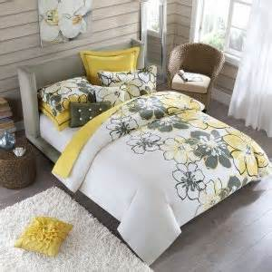 Cheap Duvet Set Grey And Yellow Bedding The Cheap Apartment