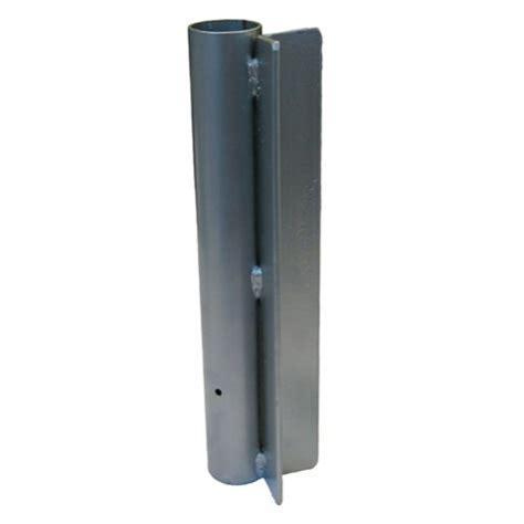 steel post mount flag pole holder base swfn 703a