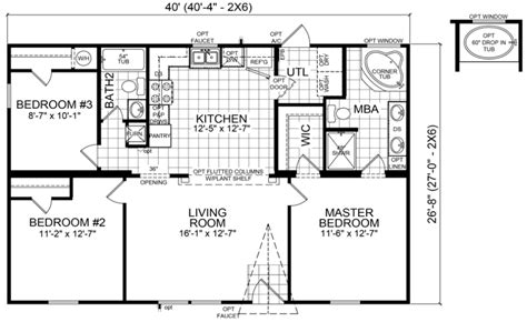 double wide mobile home floor plans estate buildings arcola 28 x 40 1067 sqft mobile home factory expo home