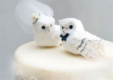 owl toppers snowy owl wedding cake topper in winter white rustic and groom birds ebay