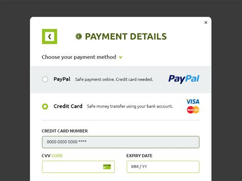 pay credit cards template payment details lightbox psd free psds sketch app