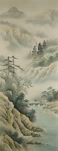 japanese landscape painting ns 10009 sansui landscape view japanese brand new
