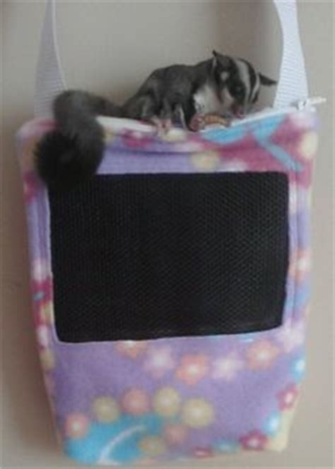 Bonding Pouch Fleece 2 sugar gliders pouch tutorial and journals on