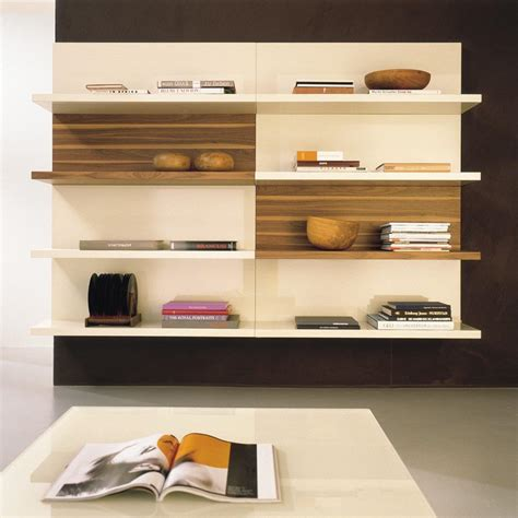 modern wall mounted shelves bookshelves dividers images graded rack shape bookshelves