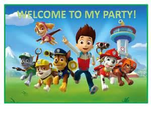 boys parties paw patrol paw patrol party poster printable