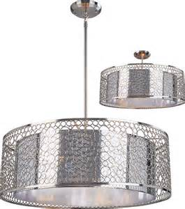 drum ceiling light fixture z lite 185 26 saatchi modern chrome 26 quot wide drum hanging