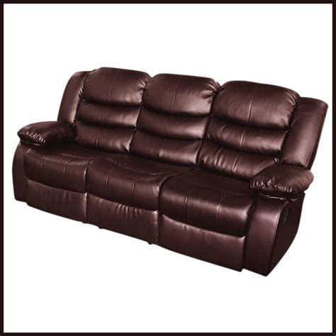 3 seater recliner lounge brown bonded leather buy