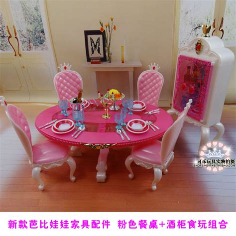 new pink table chairs gradevin for barbie 1 6 doll